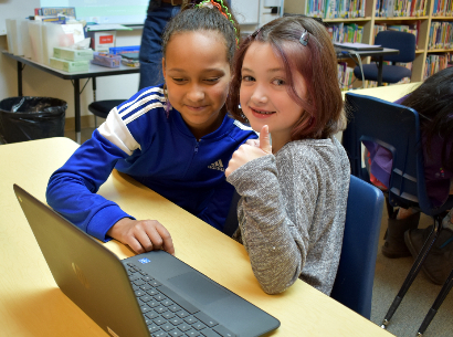 Students on Chromebooks