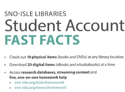 Sno-Isle Libraries Student Account Information