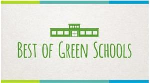 Image with School House and words Best of Green Schools