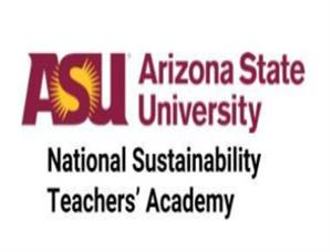 Letterss ASU and words Arizona State University