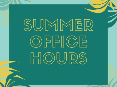 Summer Office Hours 2020